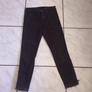 Jbrand Alana high rise Coated skinny jeans 25